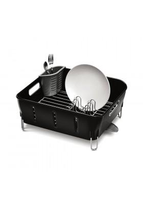 Simplehuman Plastic Compact Dishrack - Black