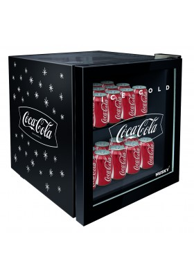 COCA-COLA 46L COUNTER-TOP GLASS DOOR BEVERAGE COOLER - BLACK