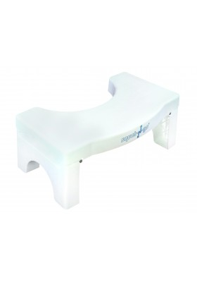 Squat 'n Go 7-Inch Foldable Toilet Stool - White