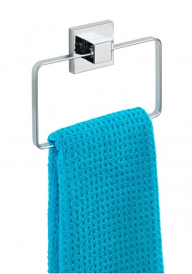 WENKO - Vacuum-Loc Towel Ring Quadro Range - S/Steel - No Drilling