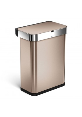58L RECTANGULAR SENSOR BIN - VOICE / MOTION CONTROL - ROSE GOLD