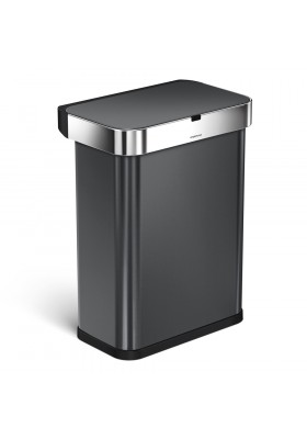 58L RECTANGULAR SENSOR BIN - VOICE / MOTION CONTROL - BLACK