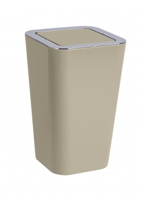 SWING COVER BIN - CANDY RANGE - TAUPE - 6L