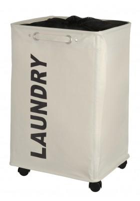 WENKO - Quadro Laundry Basket - Beige 79L