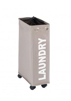 WENKO - Corno Laundry Basket - Taupe 43L