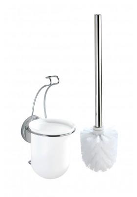 WENKO - Vacuum-Loc Wall Toilet Brush Set Milazzo - No Drilling Required