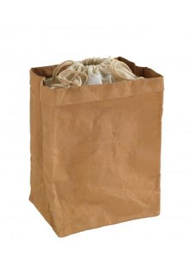 Wenko - Washable Paper Bag -  Storage Or Décor - Largel - 25X38X20Cm