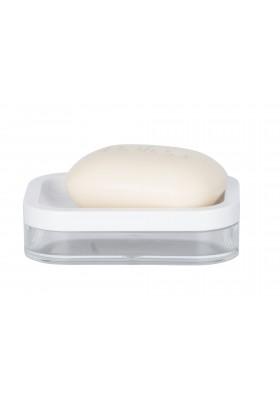 Wenko - Soap Dish - Oria Range - White & Clear