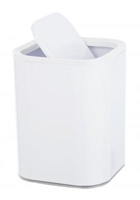 Wenko - Swing Cover Bin - Oria Range - White & Clear - 7L