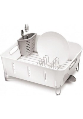 SIMPLE HUMAN - Dishrack - Plastic Compact - White