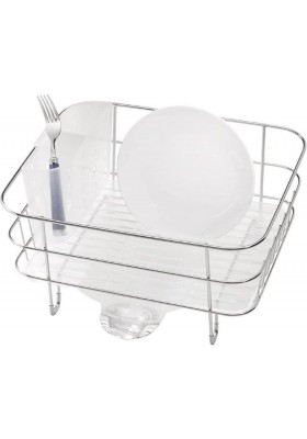 SIMPLE HUMAN - Dishrack - Compact Wire Frame W/ Removable Spout - S/Steel