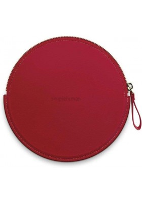 SIMPLE HUMAN - Zip Case For Sensor Mirror Compact - Vegan Leather - Red