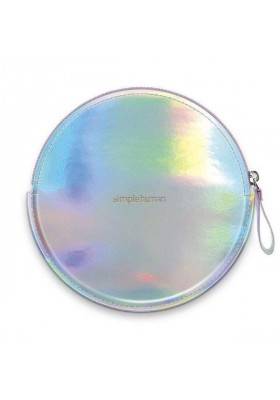 ZIP CASE FOR SENSOR MIRROR COMPACT - VEGAN LEATHER - IRIDESCENT