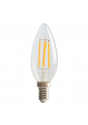 Filament Candle SES14, 4W, 470LM Warm White, 2700K Dimmable Lamp