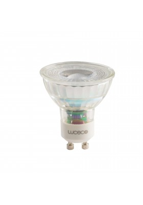 Glass GU10, 5W, 370LM Warm White, 2700k, Non-Dimmable Lamp ~ IC Driver (ECO)