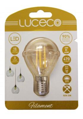 Filament Mini Globe, SES14, 4W, 470LM, Warm White, 2700k, Non-Dimmable Lamp