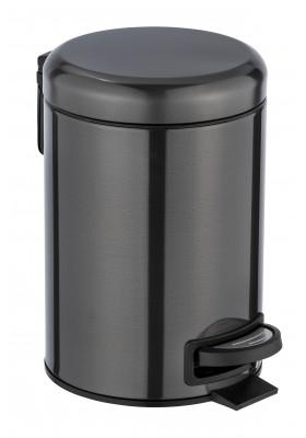 3L PEDAL BIN - LEMAN - STAINLESS STEEL  - SHINY BLACK