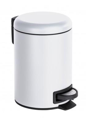 3L PEDAL BIN - LEMAN - MATTE WHITE