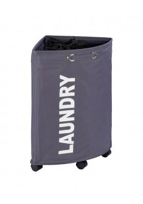 WENKO - Laundry Basket Tresco Grey 50L