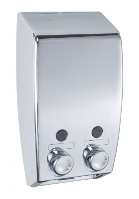 2-COMPARTMENT SOAP DISPENSER - 900ML - VARESE - SILVER