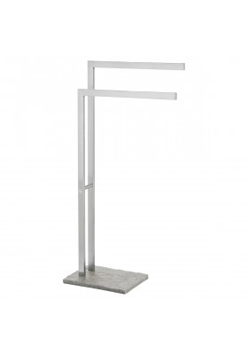 TOWEL & CLOTHES STAND - STAINLESS STEEL & POLYRESIN GRANITE