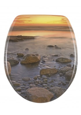 TOILET SEAT  - STONE SHORE - THERMOSET PLASTIC