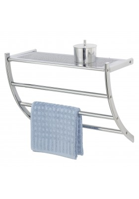 1-SHELF 3-RAIL WALL RACK - EXCLUSIVE PESCARA RANGE - CHROME