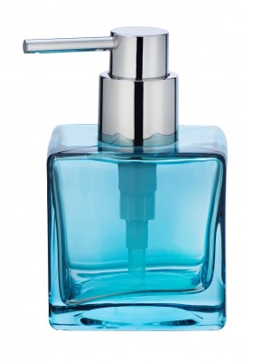 SOAP DISPENSER  - LAVIT RANGE - GLASS - TRANSPARENT BLUE