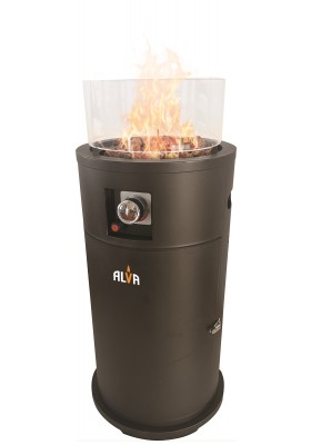 GAS SHORT STAND FIREPIT PATIO HEATER (WITH LAVA STONES)