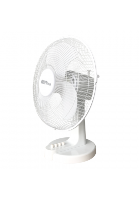 30CM PLASTIC DESK FAN (WHITE)