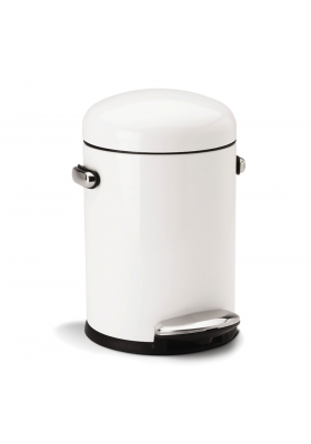 SimpleHuman - 4.5 Litre Retro - White