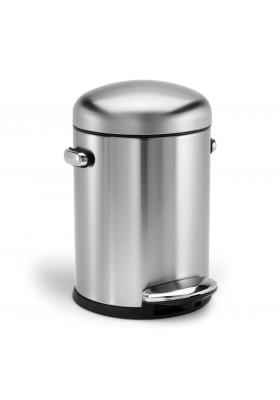 SimpleHuman - 4.5 Litre Retro - Deluxe Brushed Steel
