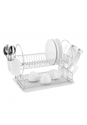CATANIA 202 CHROME PLATED DISH DRAINER 2 TIER