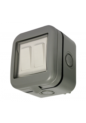 IP55 DOUBLE 2-WAY OUTDOOR SWITCH