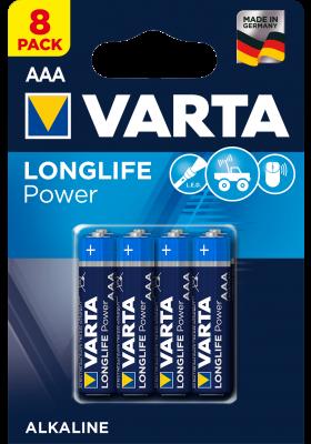 LONGLIFE POWER BATTERIES AAA 8 PACK (Hi-Energy)