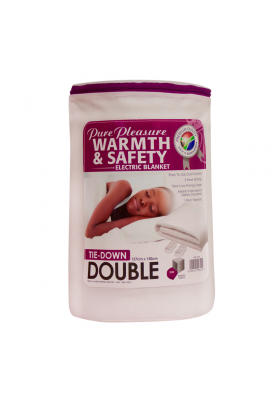 DOUBLE TIE-DOWN ELECTRIC BLANKET 137x150