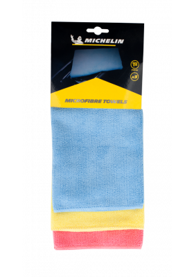 Michelin - Microfiber Terry Automotive Cleaning Cloth 3PC Set