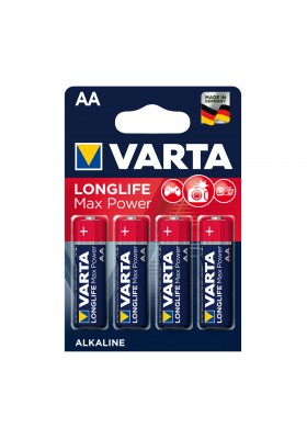 LONGLIFE MAX POWER BATTERIES AA 4 PACK (Max-Tech)