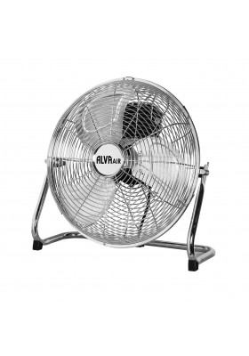 40CM CHROME FLOOR FAN (SILVER)