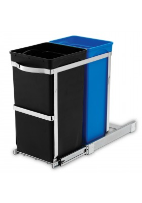35L DUAL COMPARTMENT UNDER COUNTER PULL-OUT RECYCLING BIN