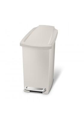 Simple Human 10L Slim Plastic Pedal Bin W/ Steel Pedal - Stone