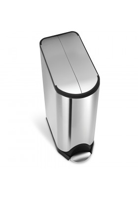 Simplehuman 45L Butterfly Pedal Bin - Brushed Stainless Steel