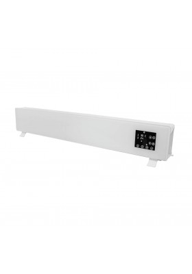 ELECTRIC FREESTANDING GLASS FACE HEATER - WHITE