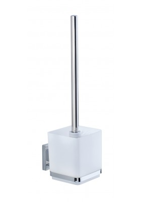 WENKO - Vacuum-Loc Toilet Brush Quadro Range - S/Steel - No Drilling