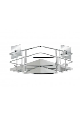 WENKO - Turbo-Loc Corner Shelf Quadro Range - S/Steel - No Drilling