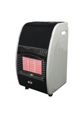 3 PANEL ROLL-ABOUT GAS HEATER - GLOSSY BLACK/WHITE
