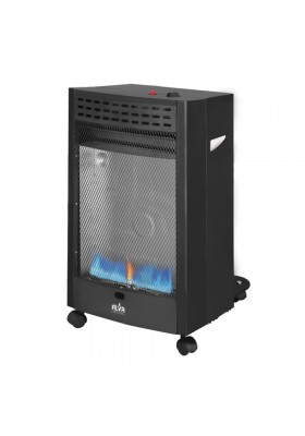 BLUE FLAME CONVECTION ROLL ABOUT GAS HEATER - BLACK