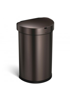 45L SEMI-ROUND SENSOR BIN - DARK BRONZE STAINLESS STEEL