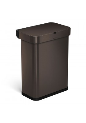 58L RECTANGULAR SENSOR BIN - VOICE / MOTION CONTROL - DARK BRONZE