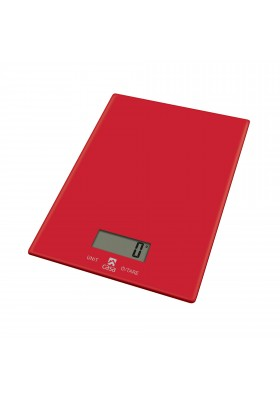 CASA KITCHEN SCALE  GLASS - ROSSO